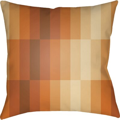 Wakefield Geometric Square Throw Pillow Size: 18 H x 18 W x 4 D, Color: Orange
