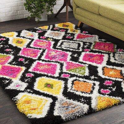 Elissa Boho Pink/Yellow Area Rug Rug Size: 2 x 3