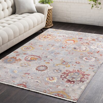 Drumnasmear Vintage Persian Traditional Gray/Red Area Rug Rug Size: 311 x 57