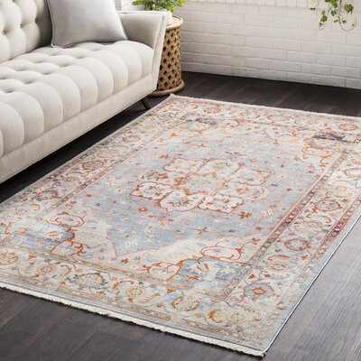 Springboro Vintage Persian Traditional Blue/Beige Area Rug Rug Size: 710 x 103