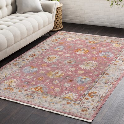 Mali Vintage Persian Traditional Bright Red Area Rug Rug Size: Rectangle 9 x 1210