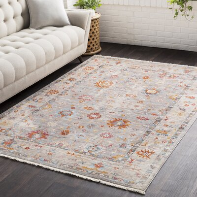 Springboro Vintage Persian Traditional Beige/Red Area Rug Rug Size: 2 x 3