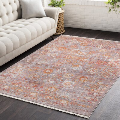 Springboro Vintage Persian Traditional Red/Gray Area Rug Rug Size: 710 x 103
