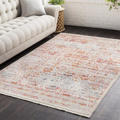 Mendelsohn Vintage Persian Traditional Red/Cream Area Rug Rug Size: Runner 27 x 9