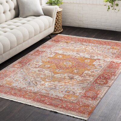 Springboro Vintage Persian Traditional Red/Orange Area Rug Rug Size: 3'11