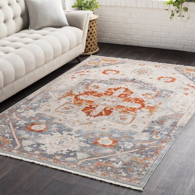 Mendelsohn Vintage Persian Traditional Red/Beige Area Rug Rug Size: Rectangle 710 x 103