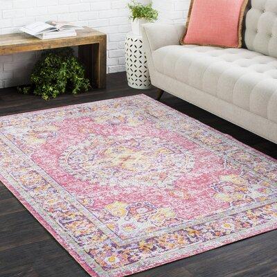 Benedict Vintage Distressed Oriental Pink/Orange Area Rug Rug Size: 311 x 511