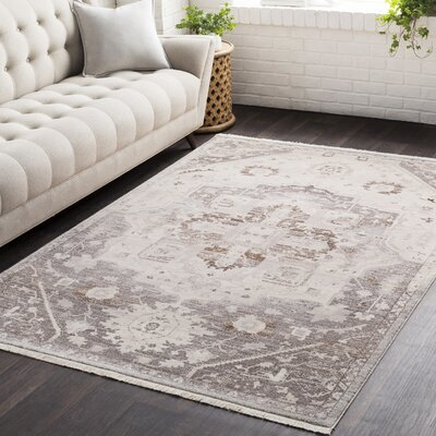 Mendelsohn Oriental Vintage Persian Traditional Brown/Cream Area Rug Rug Size: Rectangle 5 x 79