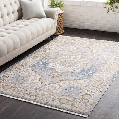 Mendelsohn Vintage Persian Traditional Blue/Brown Area Rug Rug Size: Rectangle 710 x 103