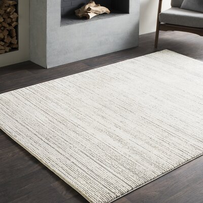 Brooks Distressed Modern Sleek Gray/Cream Area Rug Rug Size: Rectangle 2 x 3