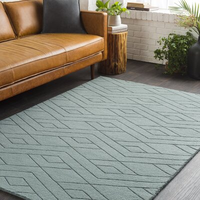 Julian Hand-Woven Medium Gray Area Rug Rug Size: 8 x 10