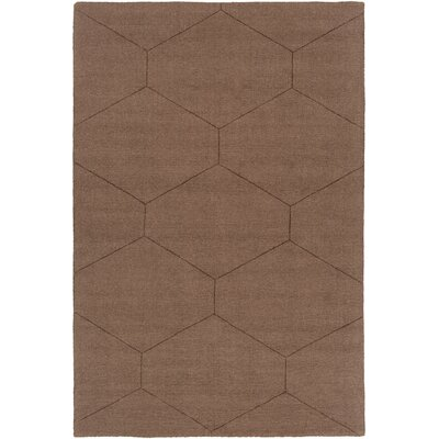 Belle Hand-Woven Dark Brown Area Rug Rug Size: 2 x 3