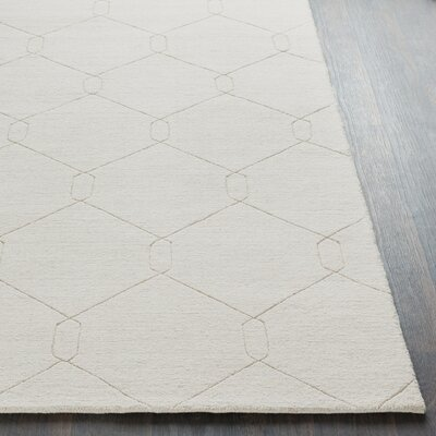 Belle Hand-Woven Ivory Area Rug Rug Size: Rectangle 5 x 76