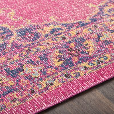 Randhir Pink Indoor Area Rug Rug Size: Rectangle 710 x 103