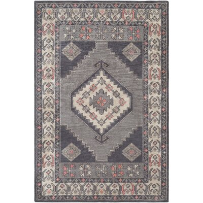 Robbins Gray Area Rug Rug Size: Rectangle 2 x 3