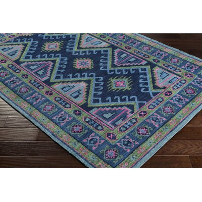Robbins Navy/Olive Area Rug Rug Size: Rectangle 9 x 12