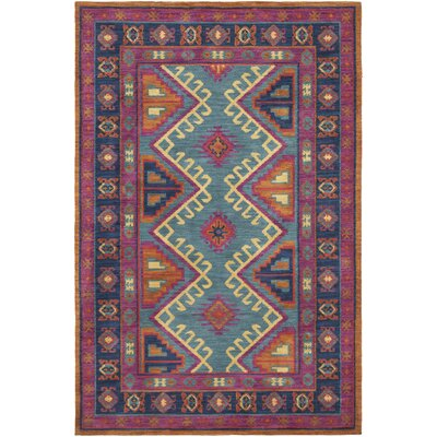 Robbins Fuchsia/Navy Area Rug Rug Size: Rectangle 4 x 6