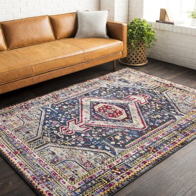Walferdange Khaki/Blue Area Rug Rug Size: Rectangle 93 x 121