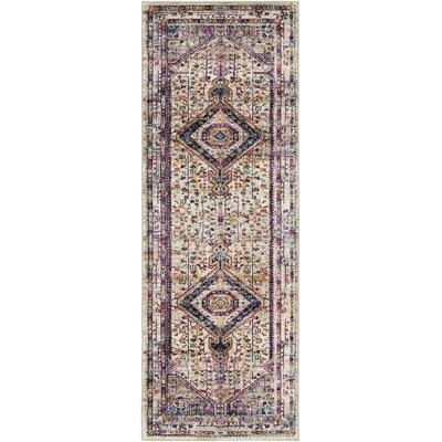 Walferdange Bright Pink/Camel Area Rug Rug Size: Runner 27 x 73