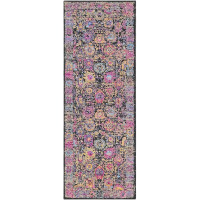 Walferdange Transitional Bright Pink Area Rug Rug Size: Runner 27 x 73