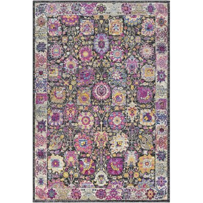Walferdange Transitional Bright Pink Area Rug Rug Size: Rectangle 311 x 57