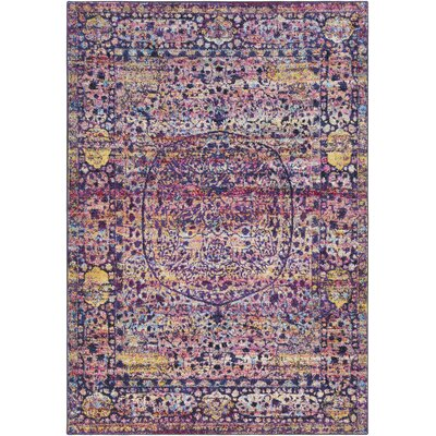 Walferdange Floral Bright Pink/Violet Area Rug Rug Size: Rectangle 93 x 121