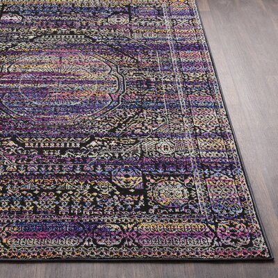 Walferdange Sky Blue/Violet Area Rug Rug Size: Rectangle 5 x 73