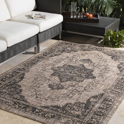 Fonwhary Camel Area Rug Rug Size: Rectangle 5'3