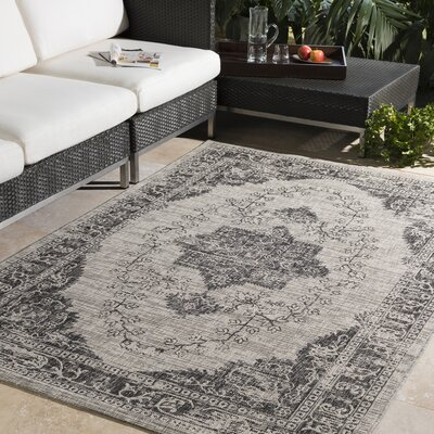 Fonwhary Classic Gray Indoor/Outdoor Area Rug Rug Size: Rectangle 2 x 3
