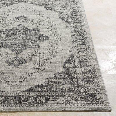 Fonwhary Classic Gray Indoor/Outdoor Area Rug Rug Size: 710 x 103