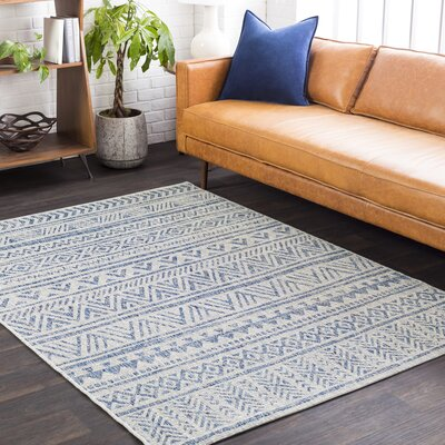 Fonwhary Global Denim Indoor/Outdoor Area Rug Rug Size: Rectangle 710 x 103