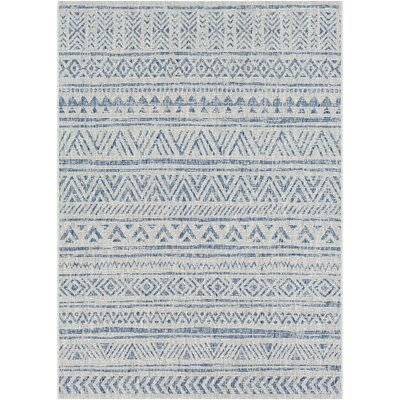 Fonwhary Global Denim Indoor/Outdoor Area Rug Rug Size: 2 x 3