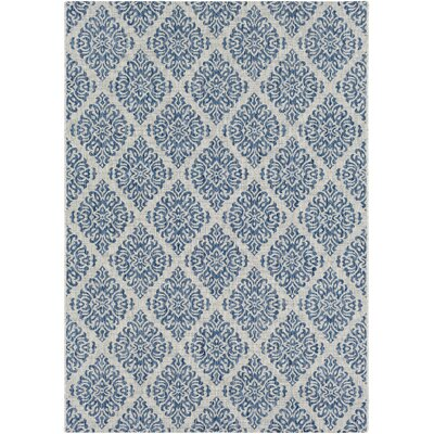Fonwhary Denim Indoor/Outdoor Area Rug Rug Size: Rectangle 710 x 103