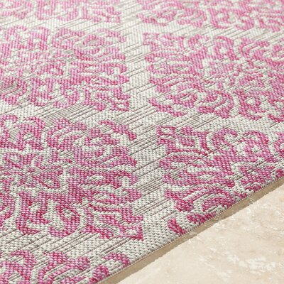 Fonwhary Bright Pink Indoor/Outdoor Area Rug Rug Size: 53 x 76