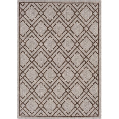 Fonwhary Geometric Camel Indoor/Outdoor Area Rug Rug Size: 53 x 76