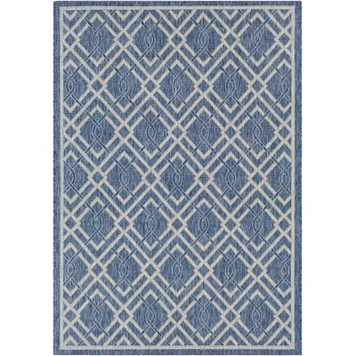 Fonwhary Navy Indoor/Outdoor Area Rug Rug Size: Rectangle 53 x 76