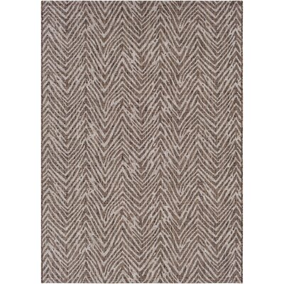 Fonwhary Camel Indoor/Outdoor Area Rug Rug Size: Rectangle 53 x 76