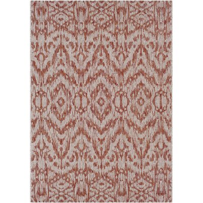 Fonwhary Burnt Orange Indoor/Outdoor Area Rug Rug Size: Rectangle 2 x 3