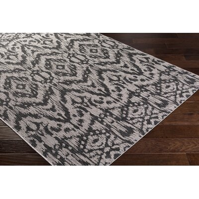Fonwhary Gray Indoor/Outdoor Area Rug Rug Size: 2 x 3