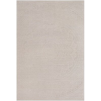Geir Cream/Khaki Area Rug Rug Size: Rectangle 67 x 96