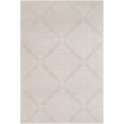 Geir Cream Area Rug Rug Size: Rectangle 53 x 76