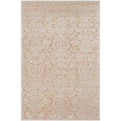 Geir Khaki/Tan Area Rug Rug Size: Rectangle 53 x 76
