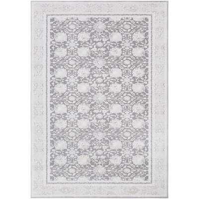 Hakon Gray Area Rug Rug Size: Rectangle 53 x 73