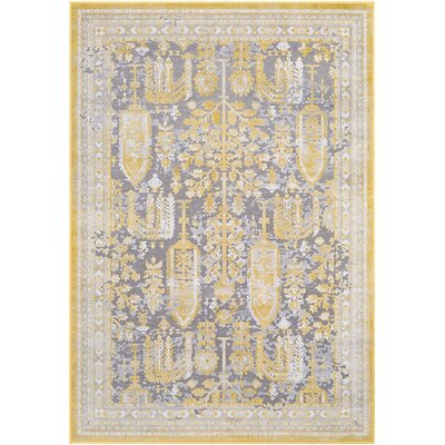 Svendborg Yellow/Gray Area Rug Rug Size: Rectangle 710 x 103
