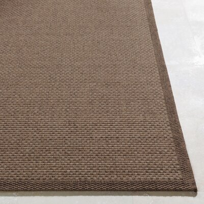 Sarang Dark Brown Indoor/Outdoor Area Rug Rug Size: Rectangle 5 x 76