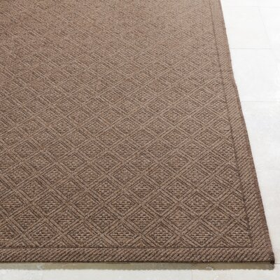 Sarang Dark Brown/Camel Indoor/Outdoor Area Rug Rug Size: Rectangle 5 x 76