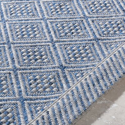 Sarang Sky Blue/Light Gray Indoor/Outdoor Area Rug Rug Size: Rectangle 2 x 3