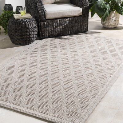 Sarang Beige Indoor/Outdoor Area Rug Rug Size: Rectangle 5 x 76