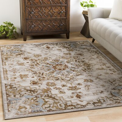 Lenora Classic Light Gray/Beige Indoor/Outdoor Area Rug Rug Size: Rectangle 53 x 73