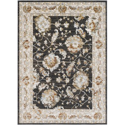 Lenora Floral and Plants Camel Indoor/Outdoor Area Rug Rug Size: 53 x 73